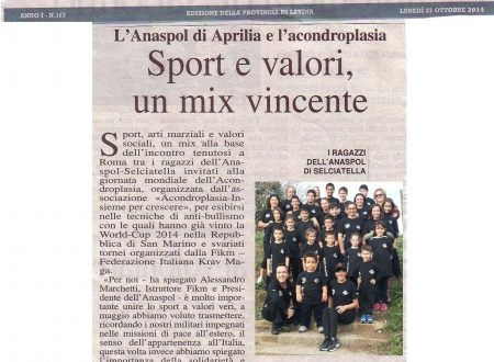 26/10/2014: ANASPOL alla giornata mondiale dell'ACONDROPLASIA, insieme per crescere. Sport e Valori