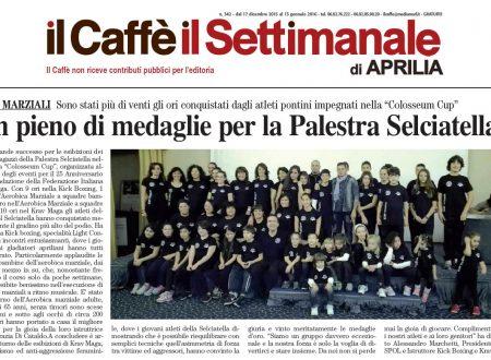 06/12/2015: Trionfo dell'ANASPOL Palestra Selciatella alla Colosseum Cup di Roma