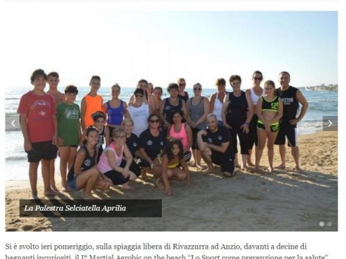 I° Martial Aerobic on the Beach – agosto 2016