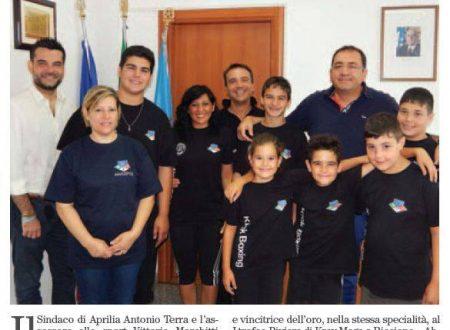 08/08/2014: Il Sindaco di Aprilia incontra gli atleti vincitori dell'ANASPOL