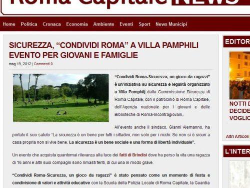 """Esibizione all'evento del Comune di Roma """"Condividi Roma"""""""