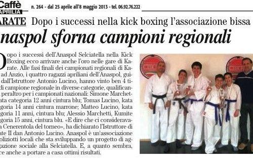 L'ANASPOL trionfa anche nel Karate ai campionati regionali CISCAM