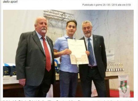 PREMIO VETERANO YOUNG AL NS ATLETA SIMONE MARCHETTI