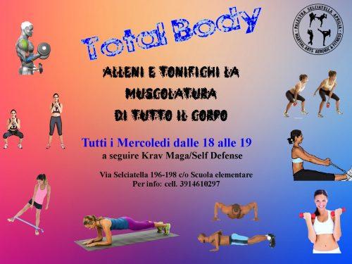 TOTAL BODY, tutti i Mercoledi dalle 18 alle 19