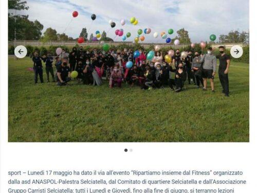 """Grande partecipazione all'evento """"Ripartiamo dal Fitness"""""""